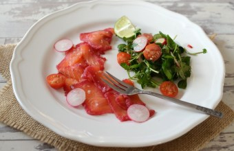 beetroot & rum home-cured salmon