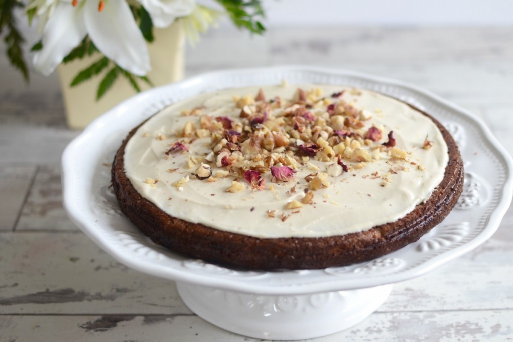 Grain-free Carrot Cake with Cashew Cream Cheese Icing