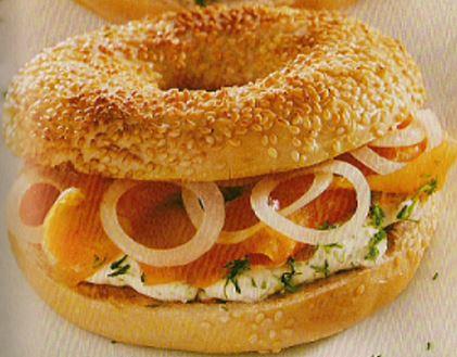 bagels au saumon Recette cuisine fitness