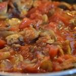 saute champignons tomates