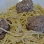 spaghettis steaks haches moutarde