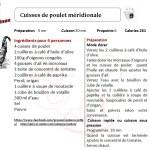 CUISSES DE POULET MERIDIONALE