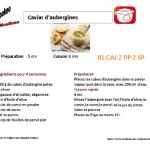 CAVIAR D 'AUBERGINES FICHE