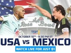 USA v Mexico CONCACAF CUP playoff