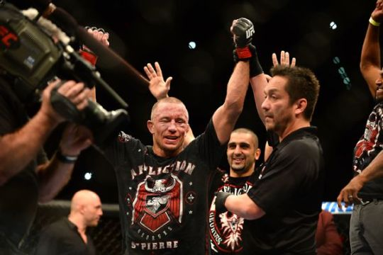 GSP vacated his title belt on Friday, leaving the UFC for personal reasons. (Photo: Al Powers/ESPN)