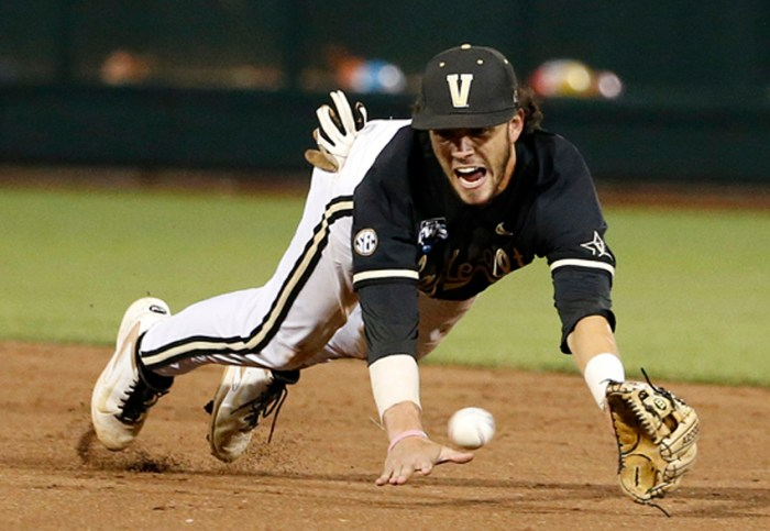 Vanderbilt Commodores won the 2014 College World Series and were crowned National Champions. Photo by Joe Howell.