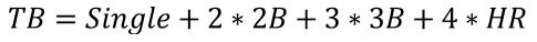 formula Total Bases
