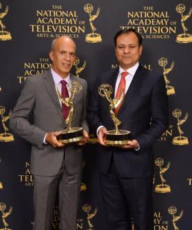 Rodolfo Martinez and Armando Benitez - Accepting the Awards on behalf of ESPN Deportes