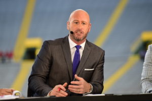 Green Bay, WI - September 28, 2015 - Lambeau Field: Trent Dilfer on the set of Monday Night Countdown during a regular season Monday Night Football game (Photo by Joe Faraoni / ESPN Images)