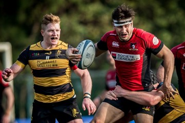 Borrelli Walsh USRC Tigers vs Societe Generale Valley during round 13 of rugbypass.com Premiership league 2016-2017 at Kings Park Sports Ground, Ho Man Tin, Kowloon, Hong Kong on 21 January 2017, Hong Kong, China   Photo by : Ike Li / ikeimages