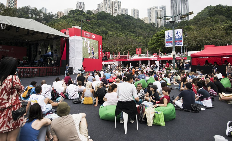 The Village During HSBC Hong Kong Rugby Sevens 2016 on 09 April 2016 at Hong Kong Stadium in Hong Kong, China. Photo by Moses Ng / Power Sport Images