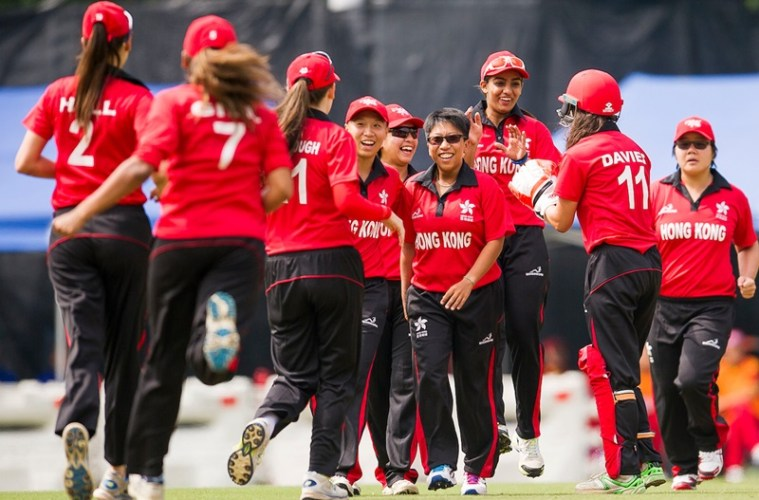 China vs Hong Kong during their ICC 2016 Women's World Cup Asia Qualifier on 10 October 2016 at the Hong Kong Cricket Club in Hong Kong, China. Photo by Victor Fraile / Power Sport Images