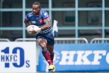 Taikoo Place Scottish Exiles vs UBB Gavekal during their Pool B match as part of the GFI HKFC Rugby Tens 2017 on 05 April 2017 in Hong Kong Football Club, Hong Kong, China. Photo by Juan Manuel Serrano / Power Sport Images
