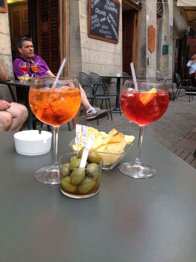Drinks on the piazza