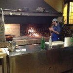 Fabio at the wood oven