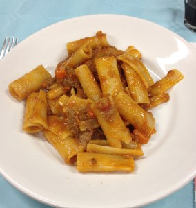 Pasta with wild boar ragu
