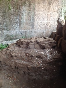 Site where Caesar's body was cremated