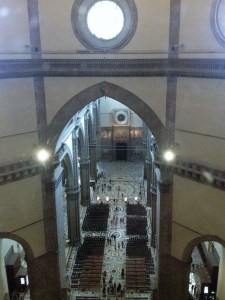 The view of the church from up above