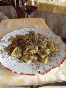Agnolotti with butter and sage
