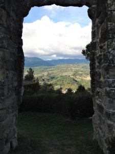 View through the ruins
