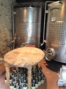 The big stainless steel tanks