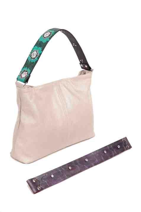 Katie Kalsi Metallic Sophie bag with Interchangable straps