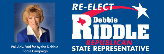 Debbie Riddle Campaign – Primary Election