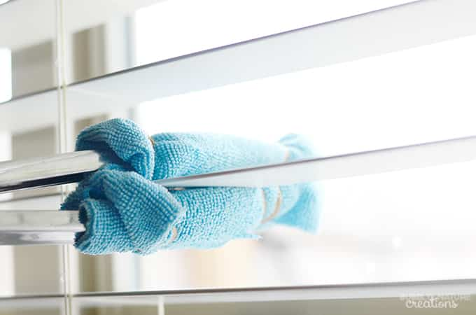 One Way To Clean Blinds Is To Use Elastic Bands To Wrap A Damp Cloth Around  A Pair Of Tongs. This Will Allow You To Quickly And Easily Wipe Your Blinds  ...