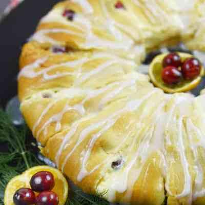 Cranberry-Orange Cream Cheese Danish Ring