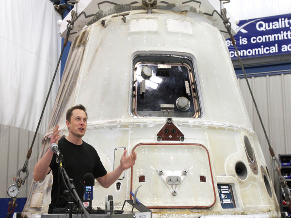 Elon Musk at SpaceX