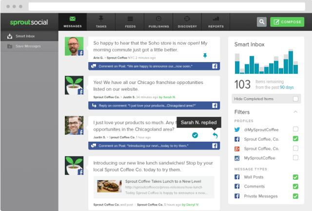 facebook-integrations monitor engage