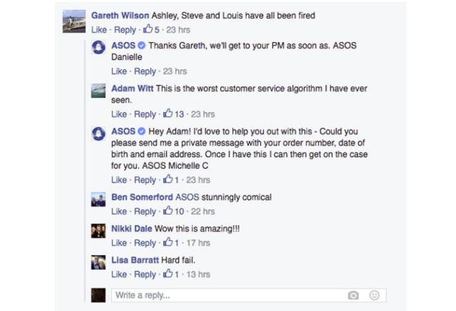 asos facebook fail