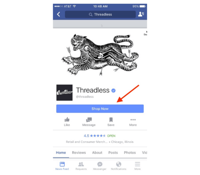 threadless mobile example