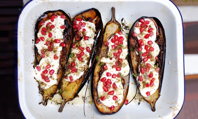 eggplant-buttermilk-sauce-plenty-vegetarian-cookbook-recipe-health-diet-spry