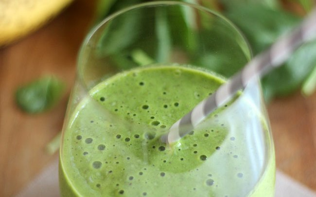 spinach flax protein smoothie