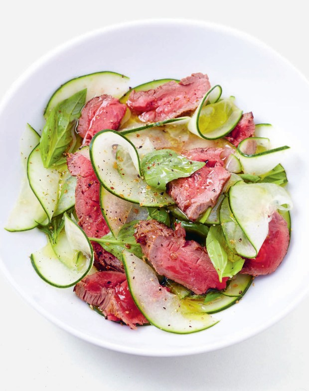 Roast Beef Salad with Basil