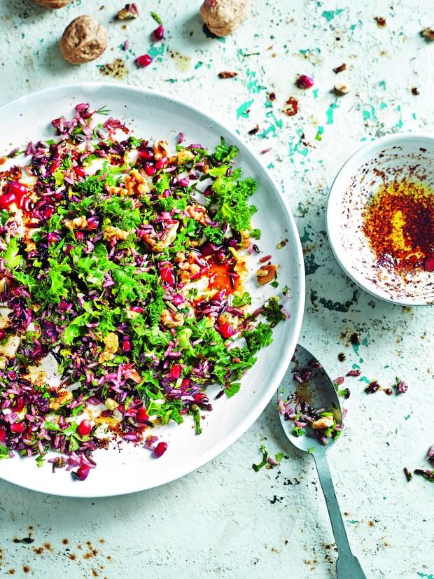 Wild Rice, Kale & Pomegranate Salad