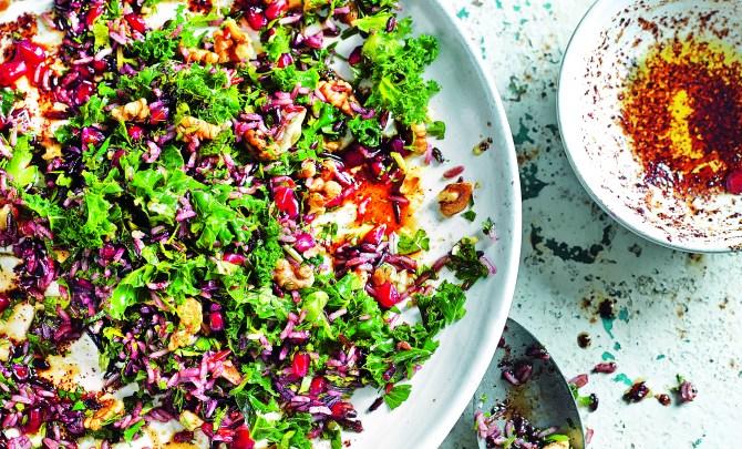 wild-rice-kale-chilli-pomegranate-salad-2
