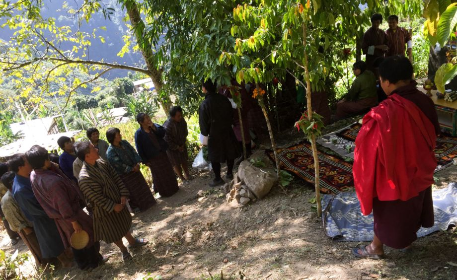 Water ceremony with the communities, Khenkar, Eastern Bhutan