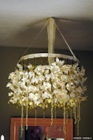 DIY Cherry Blossom Chandelier with Origami
