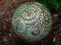 Bowling Ball Gazing Ball Art for Your Garden or Yard