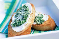Fabulous Walnut Basil Pesto for Crostini, Pizza, Pasta, and Easy Entertaining