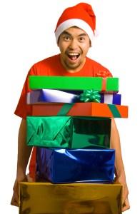 Man Delivering Christmas Presents