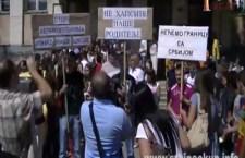 Протест средњошколаца у Косовској Митровици против НАТО окупатора (видео)