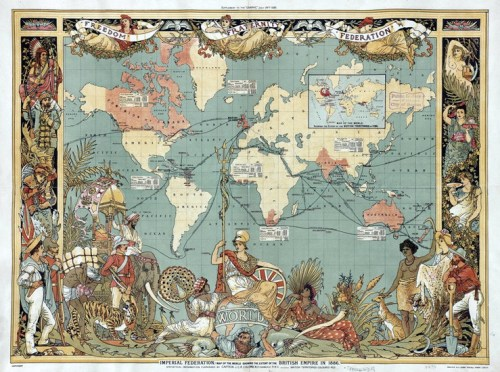 Царство 1886. Мапа британских агресија и окупација у свету