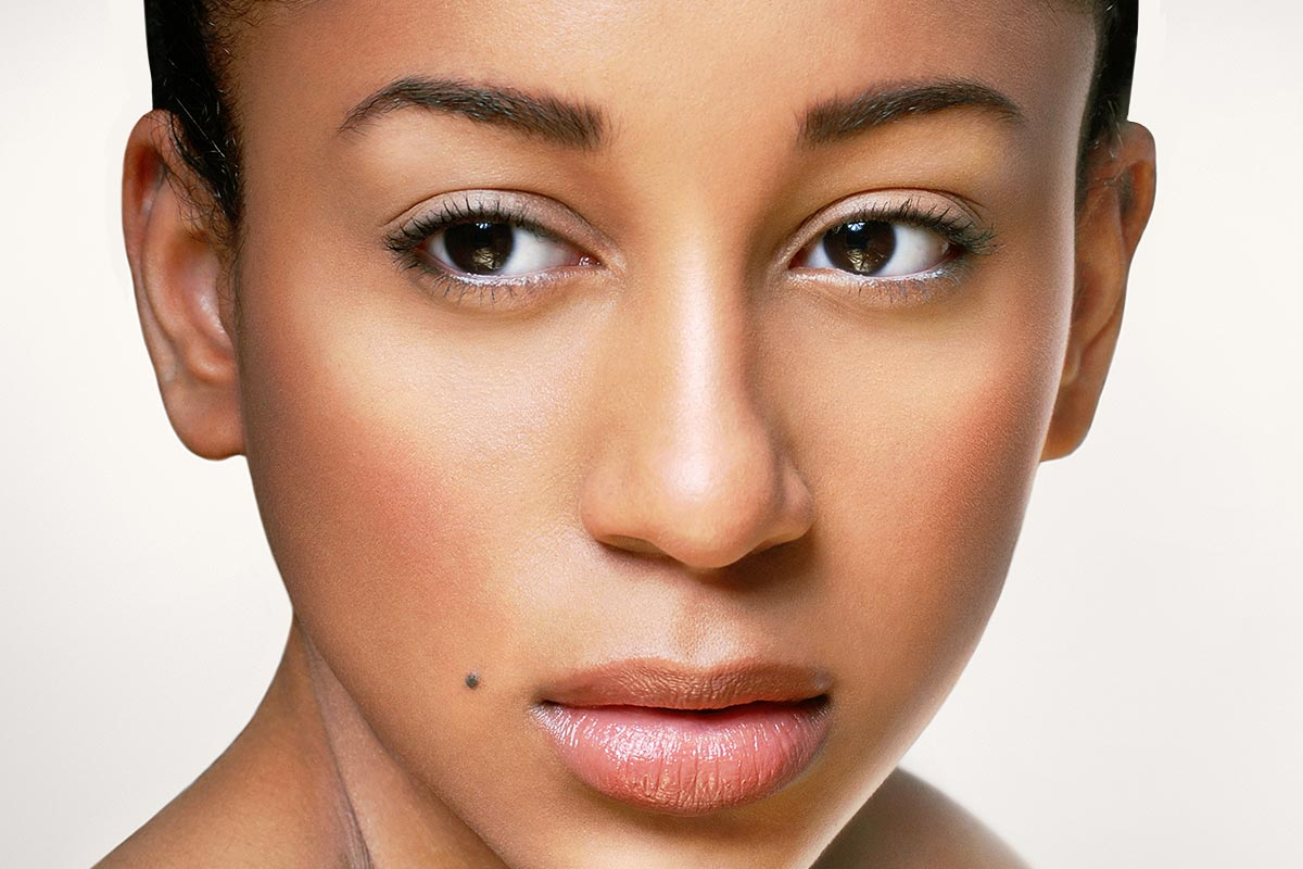 Fresh and clean skin retouched image