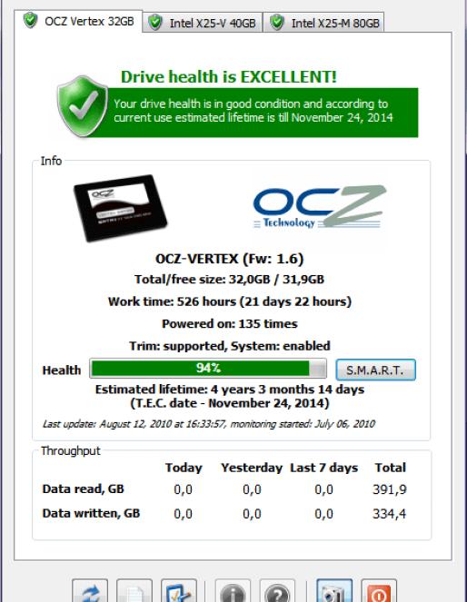 SSDlife screenshot