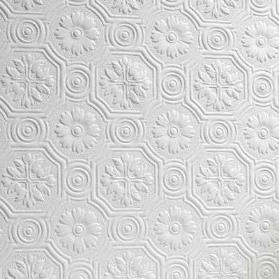Anaglypta Spencer Wallpaper White Textured Paintable ...
