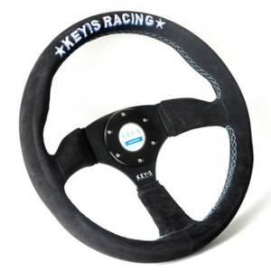 Key's Steering Wheel - Flat Type 350mm Suede