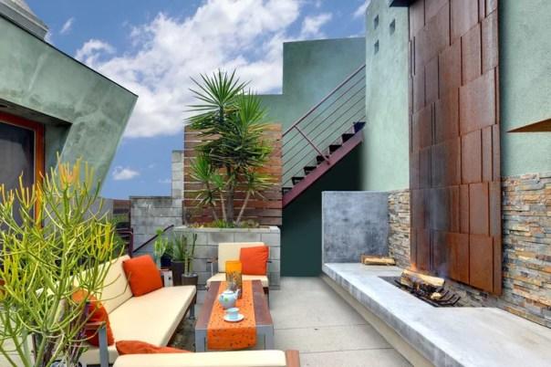Patio Contemporânea pela arquitetura Studio, inc